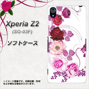Xperia Z2 SO-03F TPU ソフトケース / やわらかカバー【116 6月のバラ 素材ホワイト】 UV印刷 (エクスペリア ゼットツー/SO03F用)