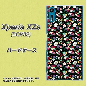 au Xperia XZs SOV35 ハードケース / カバー【778 マイクロリバティプリントBK 素材クリア】(au エクスペリアXZs SOV35/SOV35用)