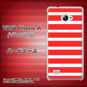 VAIO PhoneA VPA0511S ハードケース / カバー【EK881 ボーダー レッド 素材クリア】(VAIO PhoneA VPA0511S/VPA0511S用)