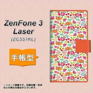 メール便送料無料 ZenFone3 Laser ZC551KL 手帳型スマホケース 【 777 マイクロリバティプリントWH 】横開き (ゼンフォン3レーザー ZC551