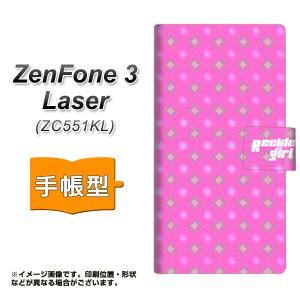 メール便送料無料 ZenFone3 Laser ZC551KL 手帳型スマホケース 【 YC878 ポルカ03 】横開き (ゼンフォン3レーザー ZC551KL/ZC551KL用/ス