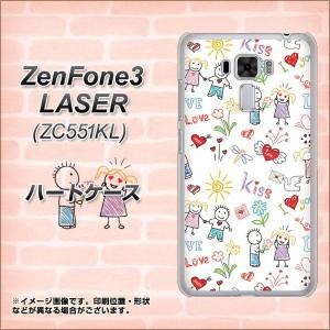 ZenFone3 Laser ZC551KL ハードケース / カバー【710 カップル 素材クリア】(ゼンフォン3レーザー ZC551KL/ZC551KL用)