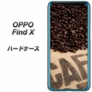 SIMフリー OPPO Find X ハードケース / カバー【VA854 コーヒー豆 素材クリア】 UV印刷 (SIMフリー オッポ Find X/FINDX用)