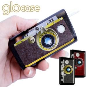 グローケース デザインケース カメラ プリント glo 専用 ハードケース プリント PUレザー 落下防止 傷防止 メール便送料無料