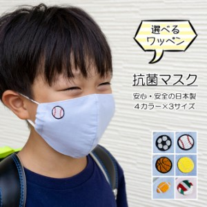 日本製 マスク 洗える 布マスク 夏用 抗菌 防臭 SN加工 ワッペン 子供用 キッズ 小さめ サイズ有 ゴム調整可 在庫あり メール便送料無料