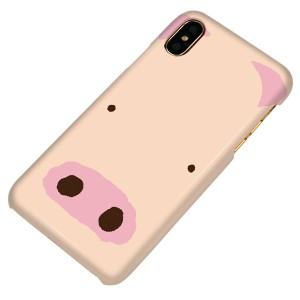 f88903bf63 Apple iPhone X ハードケース【まるっと印刷 353 ぶた 光沢仕上げ】 横