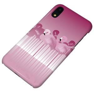 87c01438b2 Apple iPhone XR ハードケース【まるっと印刷 405 フラミンゴ 光沢仕上げ】 横