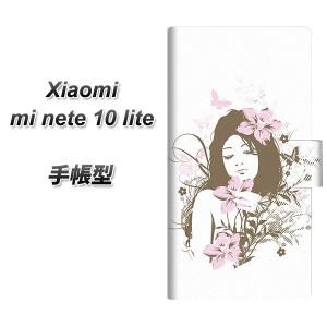 メール便送料無料 simフリー Xiaomi Mi Note 10 Lite 手帳型スマホケース 【 EK918 優雅な女性  UV印刷】横開き (シャオミ Mi Note 10 Li