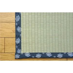 純国産/日本製 糸引織 い草上敷 『岩木』 三六間8畳(約364×364cm)  〔送料無料〕