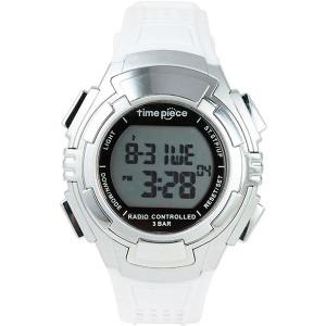 Time Piece(タイムピース) 腕時計 電波時計 ソーラー(デュアルパワー) デジタル ホワイト TPW-002WH 【送料無料】