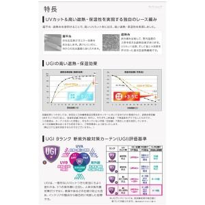 窓を飾るカーテン UGITeflon テフロン加工 紫外線約88%カット 日本製 遮熱 防汚レースカーテン (AL) 幅200cm×丈158cm(1枚) 遮像 ...