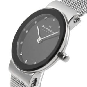 SKAGEN(スカーゲン) 358SSSBD レディス腕時計 ラインストーンインデックス メッシュストラップ 【送料無料】