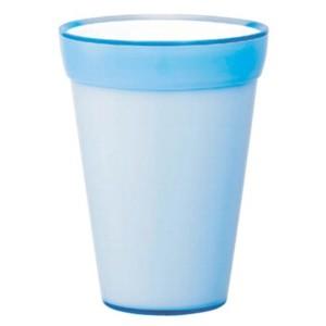 〔2個入〕植木鉢/プランター 〔ライトブルー 直径13.5cm〕 穴無し イタリア製樹脂ポット 『コッコアルト』 〔園芸用品〕 〔送料無料〕