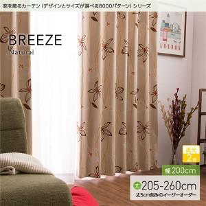 窓を飾るカーテン ナチュラル BREEZE(ブリーゼ) 遮光2級 (AL) 幅200cm×丈255cm(1枚) ベージュ 〔送料無料〕