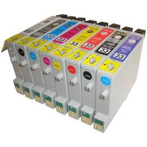 【エプソン(EPSON)対応】IC33-GL/BK/C/M/Y/R/MB/BL (ICチップ付)互換インクカートリッジ 8色セット 【2セット】 【送料無料】