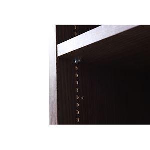 MEMORIA 本棚 棚板が1cmピッチで可動する 深型オープン上置き幅81cm ダークブラウン FRM-0110-DB 〔送料無料〕