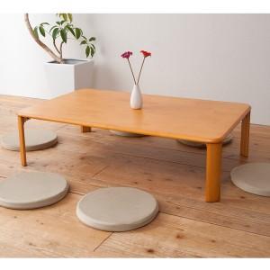 折れ脚テーブル(折りたたみローテーブル) 木製 幅120cm×奥行75cm 赤外線マウス使用可 【完成品】 【送料無料】
