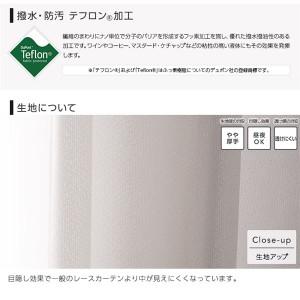 窓を飾るカーテン UGITeflon テフロン加工 紫外線約88%カット 日本製 遮熱 防汚レースカーテン (AL) 幅200cm×丈223cm(1枚) 遮像 ...