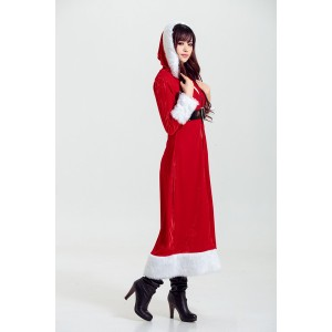 コート・ベルトの2点set〔クリスマス/クリスマス衣装/サンタ/サンタクロース衣装/コスチューム/イベント/パーティ/仮装〕 〔送料無料〕