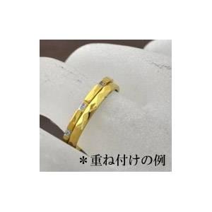 ステンレスリング ゴールドカラー 21号 【送料無料】