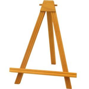 カラー額立て・カラーイーゼル・木製イーゼル ■2202イーゼル S (チーク) 〔送料無料〕