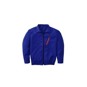 空調服 ポリエステル製長袖ブルゾン P-500BN 〔カラー:ブルー サイズ:XL〕 リチウムバッテリーセット 〔送料無料〕