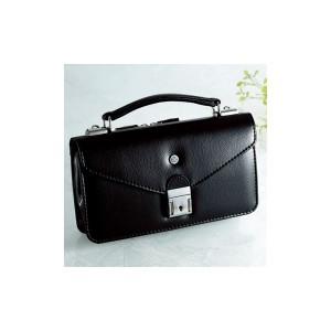 【日本製】家紋付 礼装多機能バッグ (小) 鍵付◆丸に蔓柏 backs-5 【送料無料】