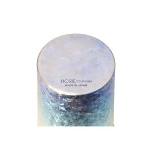 HORIE チタン二重タンブラー 窯創り プレミアム 350cc グラデーションブルー 【送料無料】