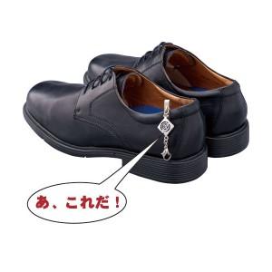 【日本製】法事用家紋入靴止め&靴べらセット 巾着袋付◆左三つ巴 kutuberaset-19 【送料無料】