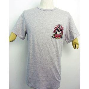 ed hardy(エドハーディー) メンズTシャツ Basic PANTHER & ROSES ベージュ M 〔送料無料〕
