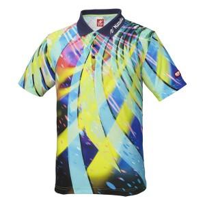 ニッタク(Nittaku) 卓球アパレル SPINADO SHIRT(スピネードシャツ) ゲームシャツ(男女兼用) NW2176 ネイビー L 〔送料無料〕