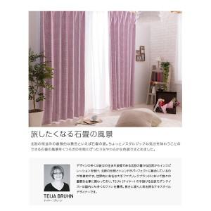 窓を飾るカーテン インファラ STEN(ステン) 遮光1級 遮熱 保温 (HZ) 幅100cm×丈235cm(2枚組) ベージュ 〔送料無料〕