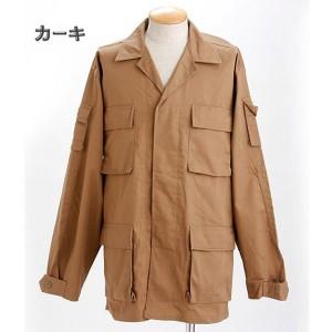アメリカ軍 BDUジャケット/迷彩ジャケット 〔 Mサイズ 〕 JB001YN カーキ 〔 レプリカ 〕  〔送料無料〕