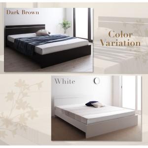 フロアベッド ワイドキング260 〔ボンネルコイルマットレス付き〕 ホワイト ずっと使えるロングライフデザインベッド 〔送料無料〕