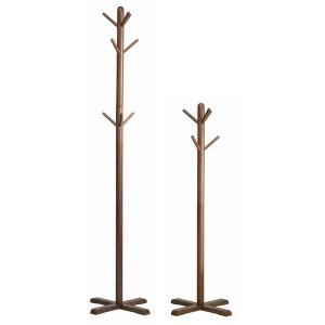 リビングハンガー(もく)(ブラウン/茶) 高さ180cm  ポールハンガー/木製/天然木/北欧風/2WAY/キッズ/子供/シンプル/洋服掛け/帽子掛け/...