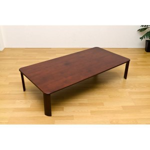 NEWウッディーテーブル/折りたたみローテーブル 〔長方形 150cm×75cm〕 ブラウン 木製 〔完成品〕 〔送料無料〕