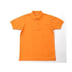 無地鹿の子ポロシャツ オレンジ 4L 【送料無料】