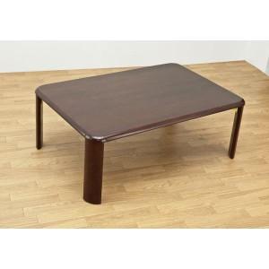 NEWウッディーテーブル/折りたたみローテーブル 〔長方形 90cm×60cm〕 ブラウン 木製 〔完成品〕 〔送料無料〕