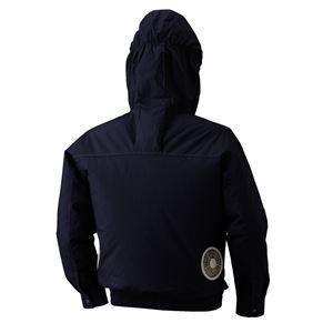 空調服 フード付綿薄手長袖ブルゾン リチウムバッテリーセット BM-500FC06S7 シルバー 5L 〔送料無料〕