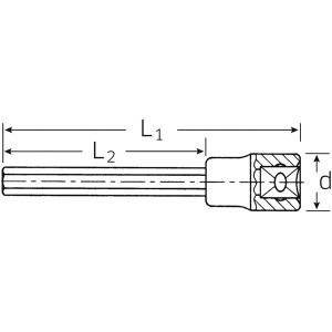 STAHLWILLE(スタビレー) 2054/7 (1/2SQ)インヘックスソケット (03151207) 〔送料無料〕