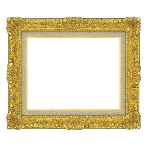 油絵額縁/油彩額縁 〔F6 ゴールド〕 総柄彫り 黄袋 吊金具付き 〔送料無料〕