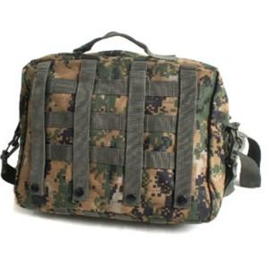 アメリカ軍 2WAYショルダーバッグ/鞄〔モール/A4対応〕 ナイロンキャンバス地 防水加工 BS076YN ACU〔レプリカ〕 〔送料無料〕