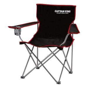 ラウンジチェア(アウトドアチェア/折りたたみ椅子) type2 ブラック(黒) 肘付き 『キャプテンスタッグ/CAPTAIN STAG』 【送料無料】