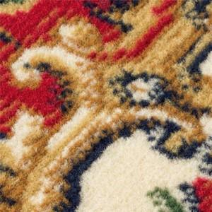 防ダニ・抗菌・防臭 ウィルトン織カーペット/絨毯 〔約100cm×150cm メダリオンレッド〕 長方形 〔子供 ペット〕 〔送料無料〕
