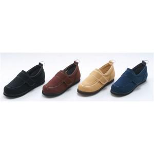 介護靴/リハビリシューズ ブラウン LK-1(外履き) 〔片足25.5cm〕 3E 左右同形状 手洗い可/撥水 (歩行補助用品) 日本製 〔送料無料〕