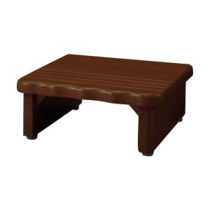 天然木和風玄関台(踏み台) 【1: 幅45cm】 木製(天然木) ダークブラウン 【送料無料】