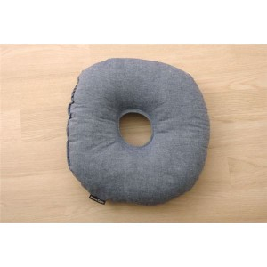 クッション 円座クッション ドーナッツクッション 綿100% 無地 シンプル 『ルージュ』 ネイビー 約35cm丸 〔送料無料〕