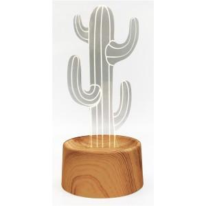 〔3個セット〕 アクセサリースタンド/メガネ置き 〔cactus〕 音感センサー内蔵 『acrysta-las-』 〔送料無料〕