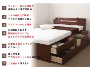 国産 宮付き 照明付き BOXタイプ 大量収納ベッド セミダブル (フレームのみ) ホワイト 日本製ベッドフレーム 【送料無料】