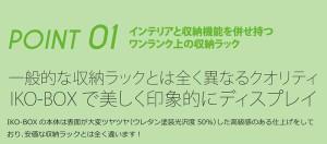 カラーボックス キューブボックス ディスプレイボックス IKO-BOXイコウボックス 2L 木目(片面タイプ) 〔送料無料〕